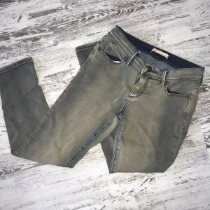 Free People navy green jeans